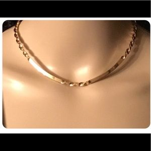 Unique Vintage Twisted Gold Choker Style Necklace